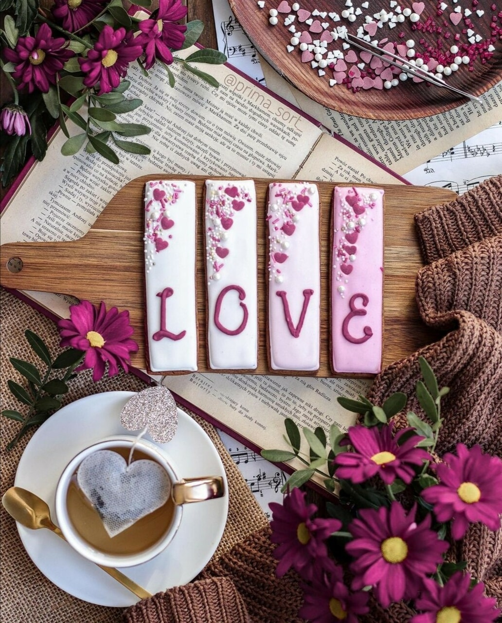 love, dessert, and food image