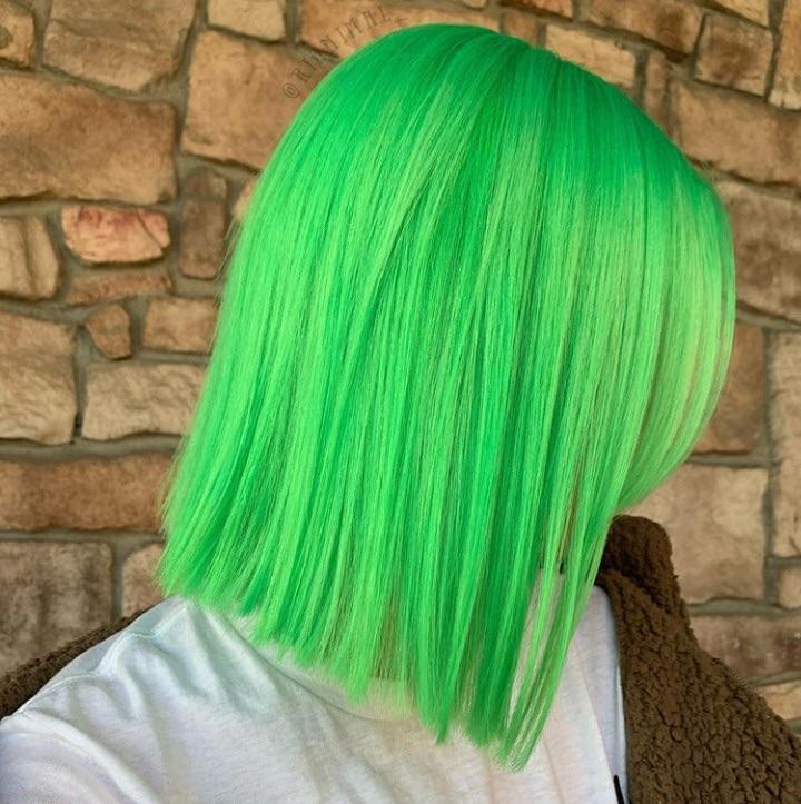 hair, colored hair, and green hair image