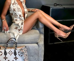 brunette, chic, and LV image