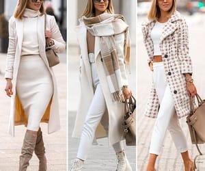 beige, coat, and fashion image