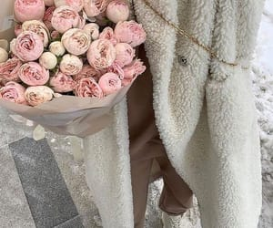 boots, bouquet, and peony image