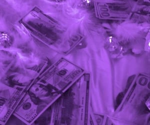 aesthetic, purple, and dollar image
