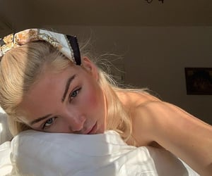 bed, face, and skin image