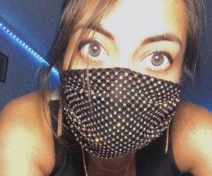 eyes, blue lights, and shine image
