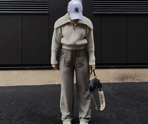 Christian Dior, street style, and white sneakers image