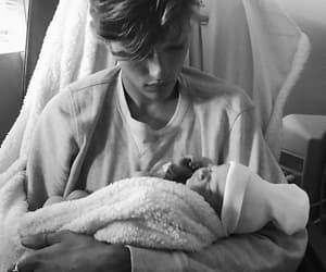 boy, dad, and lucky blue smith image