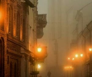 city, mist, and travel image