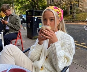 girl, aesthetic, and coffee image