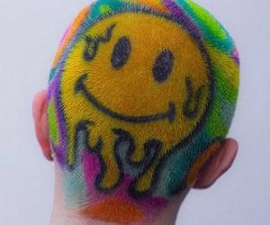hair, rainbow, and alternative image