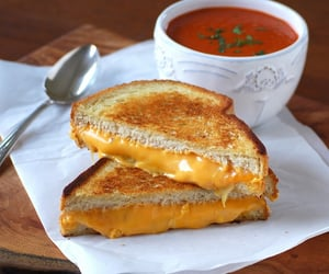 cheesy, delicious, and food image