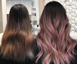 hairstyle, pink hair, and hair color image