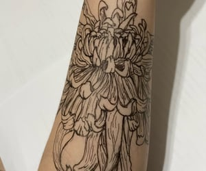arm, flowers, and hand image