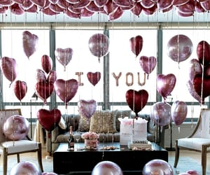 february, valentines day, and ballons image