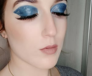 makeup look, blue, and deep blue image
