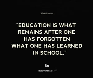Albert Einstein, quotes, and thinking image