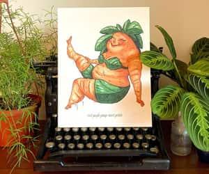 body positive, etsy, and vintage botanical image