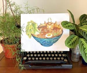 etsy, vintage botanical, and vegetable poster image