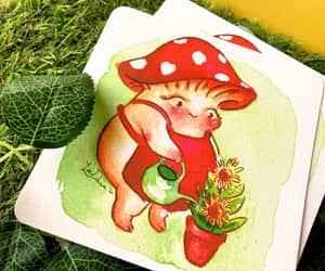 etsy, mushroom print, and magical plants image