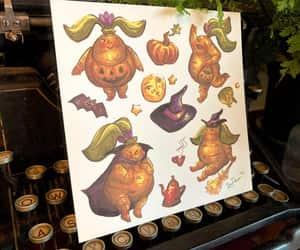 etsy, halloween art, and botanical art image