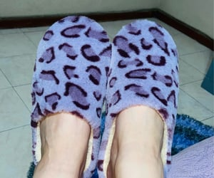 lila, morado, and slippers image