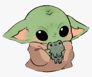 cute, baby yoda, and th mandolorian image