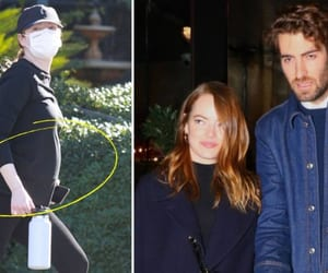 emma stone, celebrity couples, and celebrity families image