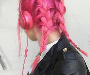 braids, hair, and headphones image