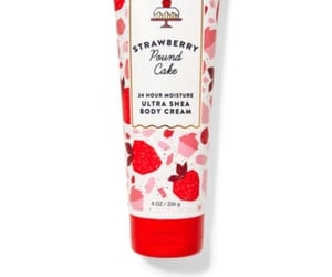 body lotion and strawberry image