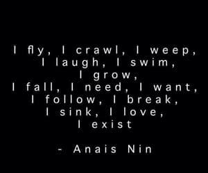 anais nin, i exist, and crawl image