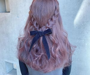 bow, hair, and purple image