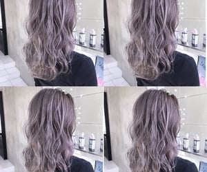 dye, hairstyles, and grey brown image