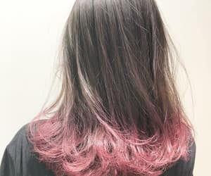fashion, pink, and dyed tips image