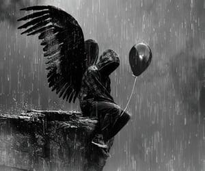 black and white, dark, and goth image