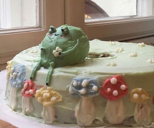 frog, aesthetic, and cake image