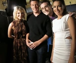 glee, cory monteith, and mongron image