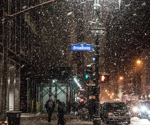 new york, nyc, and snow image