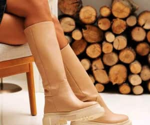 ankle boots, camel boots, and boots image