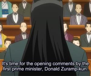parody, donald trump, and anime image
