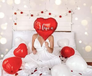balloons, red, and chic image