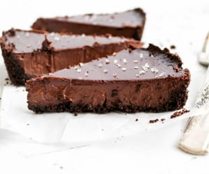 baked, dark chocolate, and dessert image