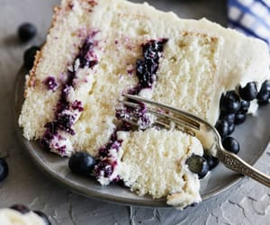 baking, blueberry, and jam image