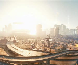 brown, city, and cyberpunk image