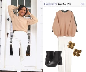 ankle boots, stylebook, and white pants image