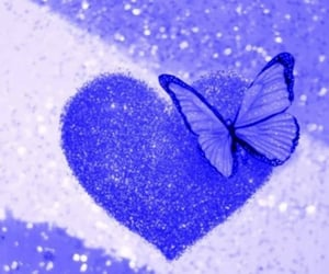 butterfly, glitter, and heart image