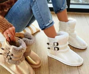 fur ankle boots image
