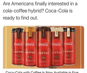 drink, coca-cola, and coffee image