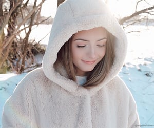 happy, smile, and snow image