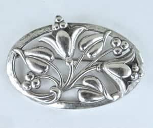 Art Nouveau, vintage brooch, and art nouveau brooch image