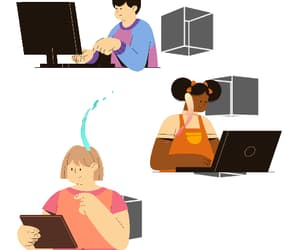 computer, internet, and connection image