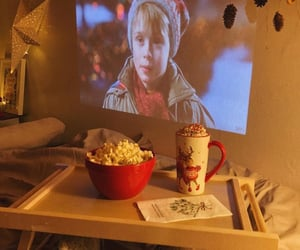film, alone at home, and merry christmas image